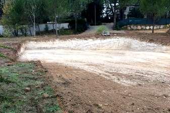 Préparation des fondations de la villa